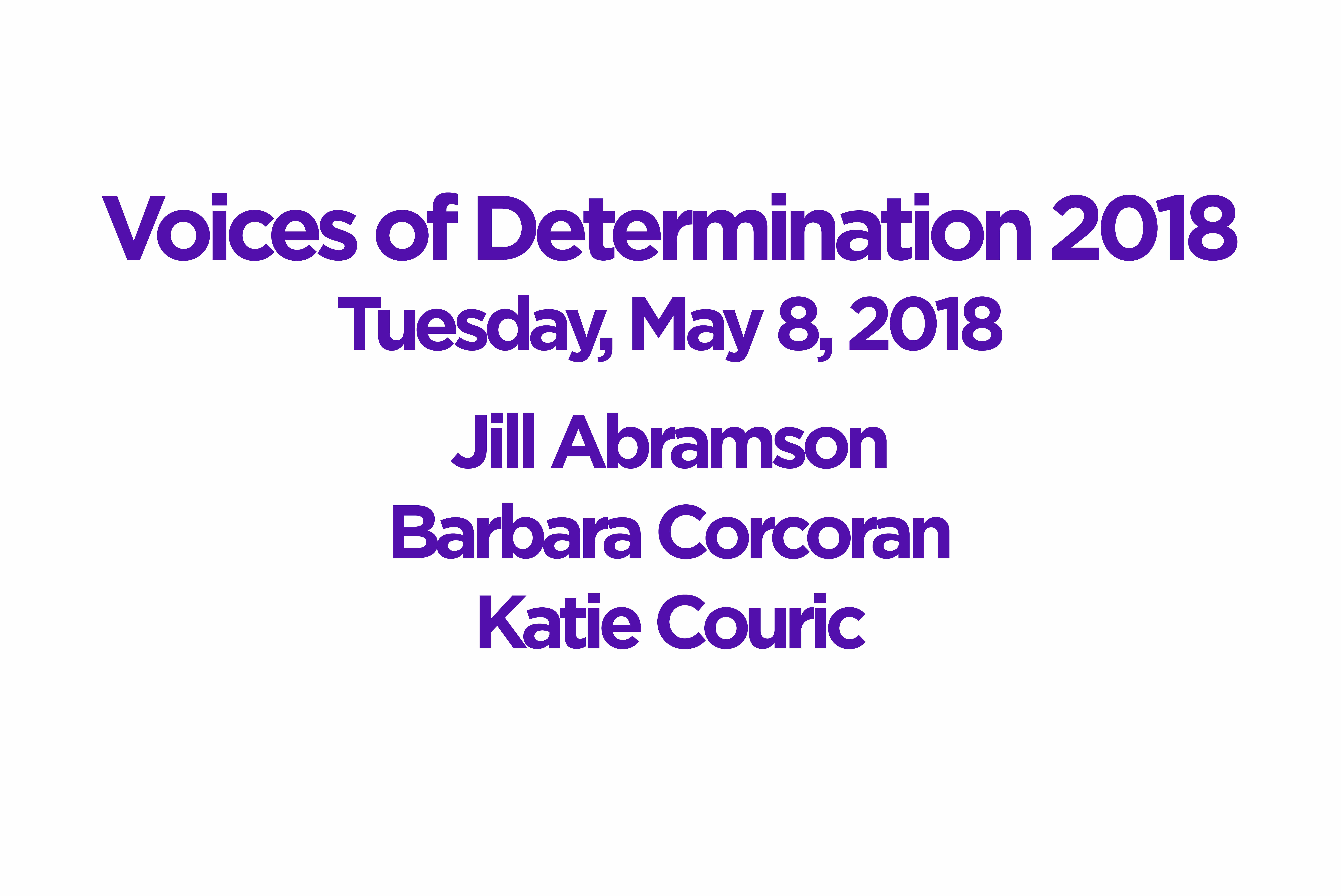 NTSAD Presents Voices of Determination in New York City